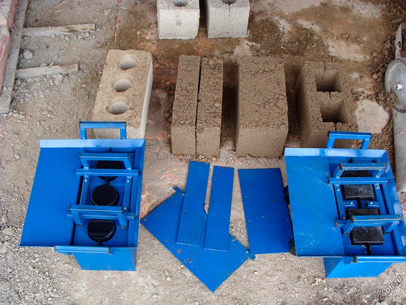 Станок для 2 видов блоков нмз 1м 2 как приготовить раствор